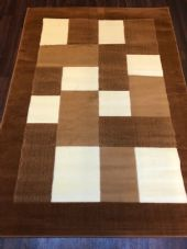 NEW MODERN BLOCK DESIGN RUGS LIGHT BROWN 115X165CM 6FTX4FT APPROX QUALITY MATS